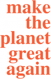 Make the planet grat again - koszulka męska, kolor biały