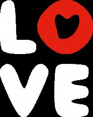 Koszulka damska - LOVE (Prezent na Dzień Kobiet)