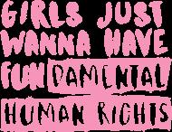 Koszulka damska - FUNdamental human rights (Prezent na Dzień Kobiet)