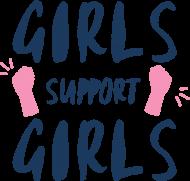 Koszulka damska - Girls support girls (Prezent na Dzień Kobiet)