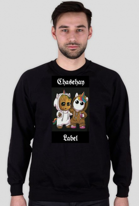 Bluza chasehay czarna jednorożec