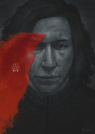 STAR WARS Kylo Ren Scar - plakat A1
