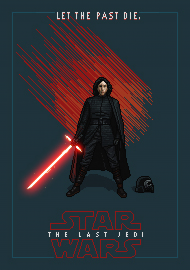 STAR WARS Kylo Ren Pixel Art - plakat A2