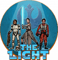 STAR WARS The Light Pixel Art DAMSKA