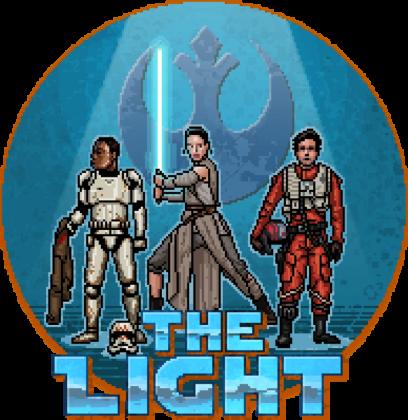 STAR WARS The Light Pixel Art DAMSKA