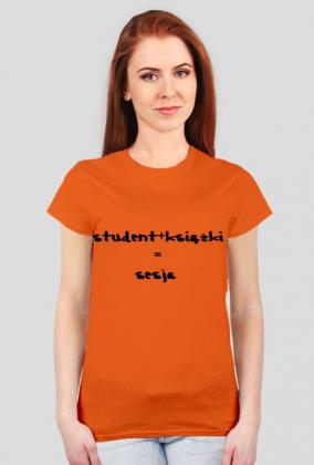 STUDENT+KSIĄŻKI=SESJA-KOSZULKA