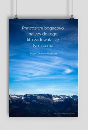 Plakat - zdjęcie z cytatem Dilgo Czientse Rinpocze