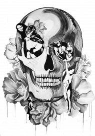 Plakat | B&W Skull