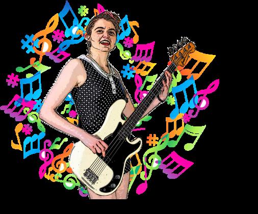 Koszulka The Dames - bassist