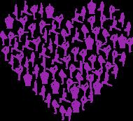Joga serce fioletowe