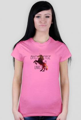 Bitch please, I ride a unicorn RÓŻNE KOLORY czarny napis