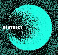 Pixel Art - napis Abstract - kosmos - gwiazdy - styl retro - damska koszulka