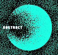 Pixel Art - napis Abstract - kosmos - gwiazdy - styl retro - męska koszulka