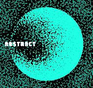 Pixel Art - napis Abstract - kosmos - gwiazdy - styl retro - dziewczynka koszulka