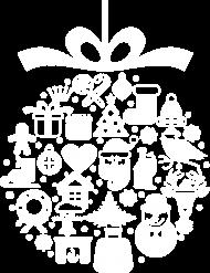 Świąteczna bąbka choinkowa - mikołaj - choinka - zima - śnieg - prezent - święta - Boże Narodzenie - biały - męska koszulka