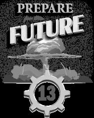 Grzyb atomowy - schron - retro - Prepare for the future - Metro - Fallout - Wasteland - męska koszulka