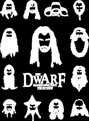 Hobbit - Krasnolud - twarze - obrys - biały