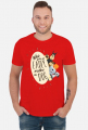 Who gets up early walks the dog - male - t-shirt