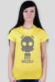 Nie Gazuj - Maska Gazowa - Retro - Vintage - Postapo - Apokalipsa - damska koszulka