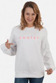 sweter original for woman #1 white/pink