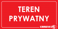 koszulka Teren Prywatny Urbex sleeves