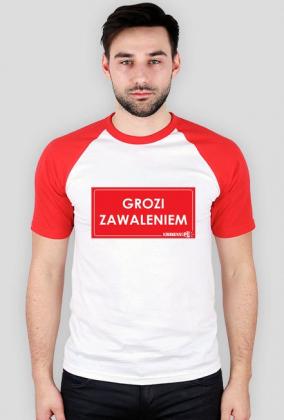 koszulka Urbex Grozi Zawaleniem sleeves