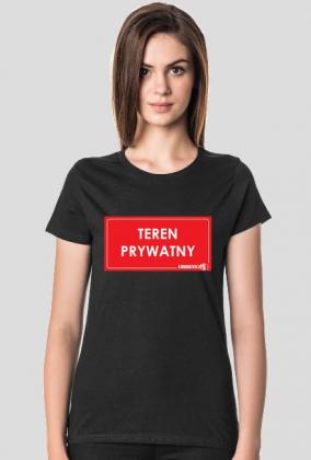 koszulka Teren Prywatny Urbex damska
