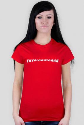 koszulka Eksploratorka Urbex red