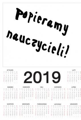 Kalendarz Popieramy Nauczycieli