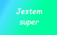 Bluza JESTEM SUPER