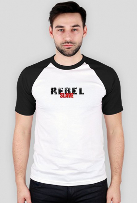 T-Shirt Rebel SLAVE Bl-Wh.