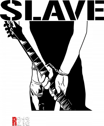 T-Shirt Rebel SLAVE Chain Guitar