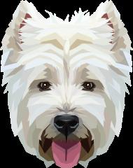 West Highland White Terrier geometryczny torba z Twoim Zwierzakiem