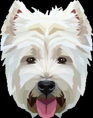 West Highland White Terrier geometryczny koszulka z Twoim Zwierzakiem
