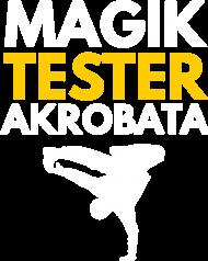 Magik, tester, akrobata - męska czarna koszulka