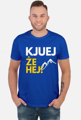 Kjuej, że hej! - koszulka męska niebieska
