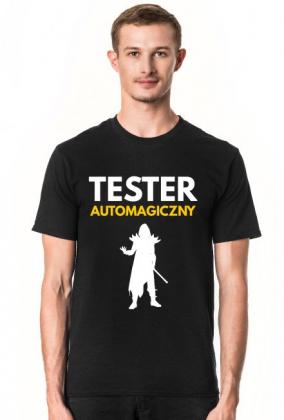 Tester automagiczny - koszulka męska czarnaa