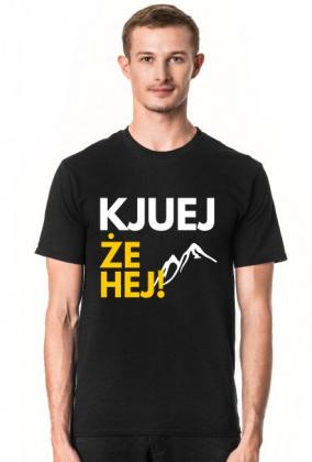 Kjuej, że hej! - koszulka męska czarna