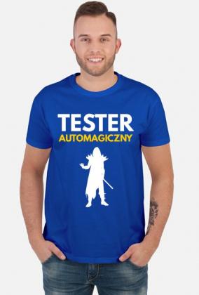 Tester automagiczny - koszulka męska niebieska