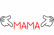 Koszulka Najlepsza Mama biały napis