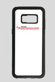 Samsung Galaxy S8 case black z nadrukiem NewsDiscoPolo