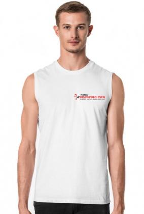 Męska koszulka bez rękawów z nadrukiem NewsDiscoPolo