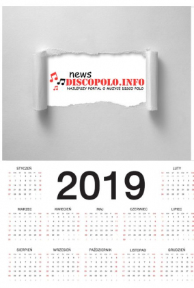 Kalendarz na 2019 z logo NewsDiscoPolo