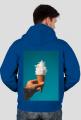 Bluza męska z suwakiem nadruk na plecach ICE CREAM COLLECTION