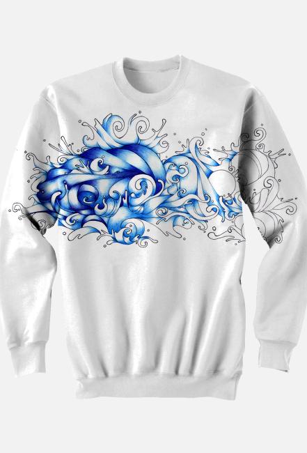 bluza męska 3d abstrakcja