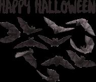 Happy Halloween - koszulka z nietoperzami