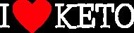 I love keto - dieta ketogeniczna - koszulka męska