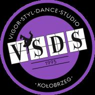 VSDS COOL KIDS koszulka treningowa filoetowe logo