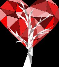 Eco torba drzewo sercowe (jednostronna)