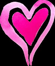 Koszulka serce akwarelowe